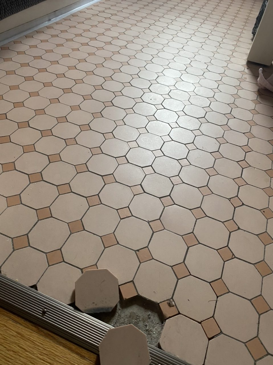 1950's Pepto Pink Tile ugly floor contest entry photo