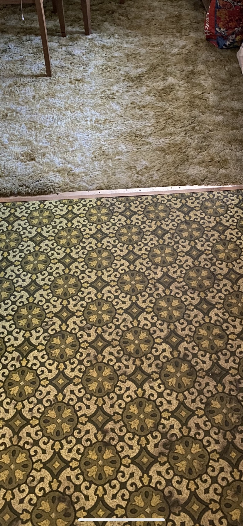 The 1970s called, they want their floor back! ugly floor contest entry photo