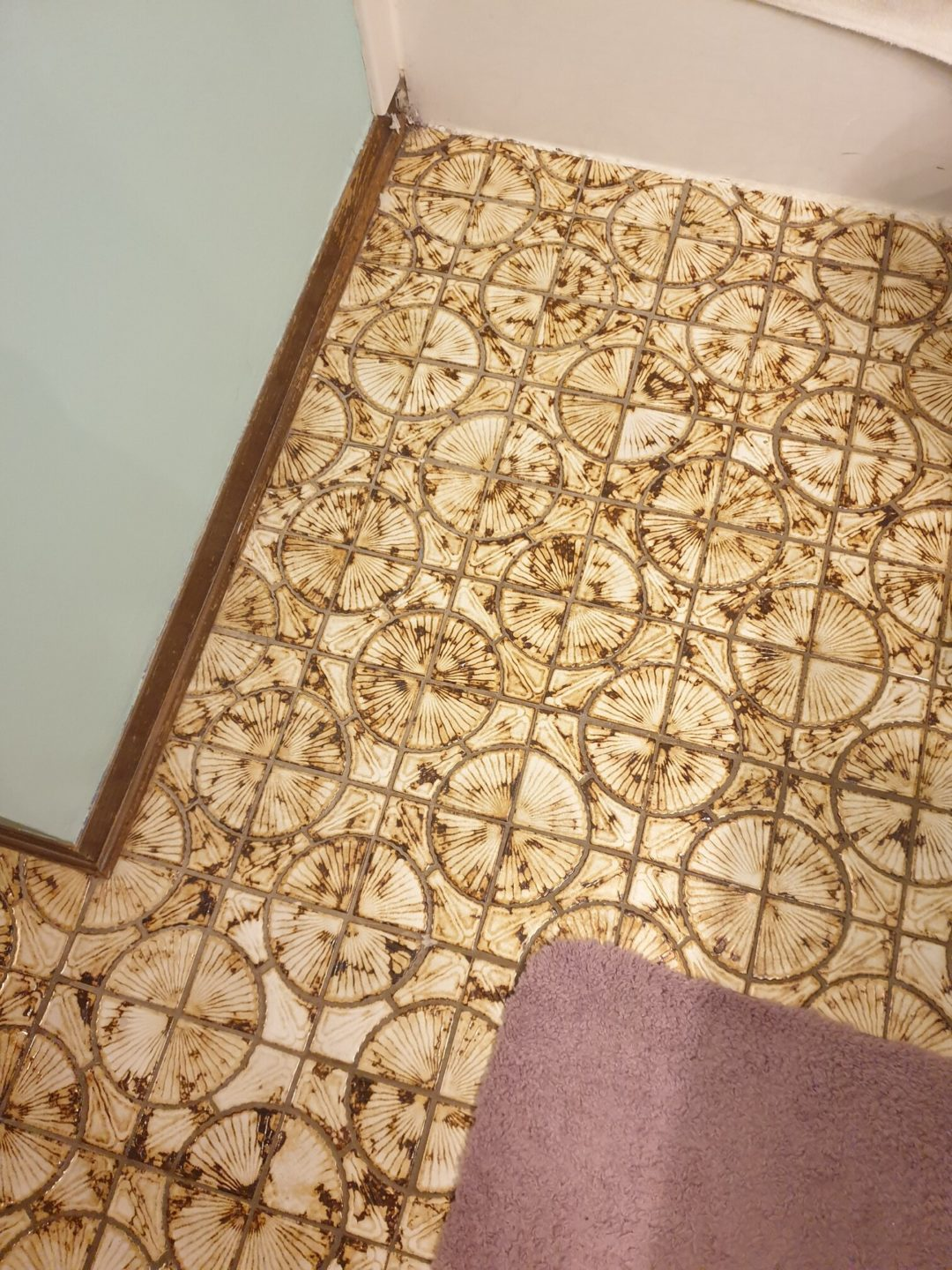 This floor is older than my mom ugly floor contest entry photo